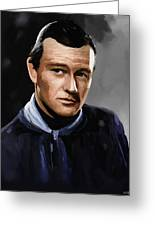 John Wayne In Stagecoach Greeting Card by Robert Wheater
