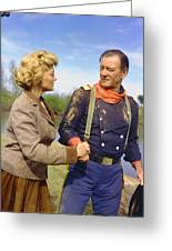 John Wayne In The Horse Soldiers Greeting Card by Silver Screen