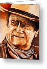 John Wayne Greeting Card by Jake Stapleton