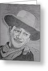 John Wayne Greeting Card
