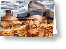 John Wayne Monument Valley Greeting Card by Lester Phipps