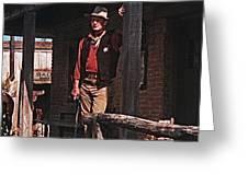 John Wayne Porch Of His Sheriff's Office Rio Bravo  Old Tucson Arizona 1959-2013 Greeting Card