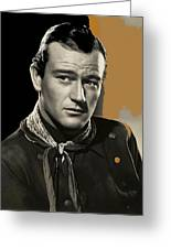 John Wayne Publicity Photo In Costume Stagecoach 1939-2013 Greeting Card