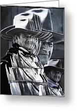 John Wayne Rio Lobo Collage Old Tucson Arizona 1970-2009 Greeting Card