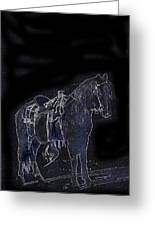 John Wayne The Horse Soldiers 1959 Homage #1 C.1880 Horse And Saddle-2009 Greeting Card