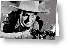 John Wayne Two-fisted Law  1932 Publicity Photo Greeting Card