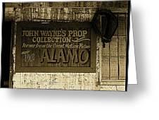 John Wayne's Prop Collection The Alamo Old Tucson Arizona 1967-2009 Greeting Card
