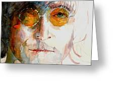John Winston Lennon Greeting Card