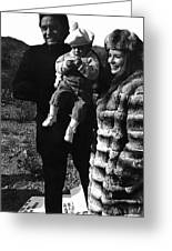 Johnny Cash And Family Old Tucson Arizona 1971 Greeting Card