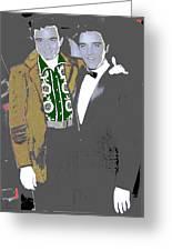 Johnny Cash  Elvis Presley Backstage Memphis Tn  Photographer Unknown  Greeting Card