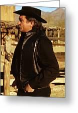 Johnny Cash Golden Gate Peak Old Tucson Arizona 1971 Greeting Card
