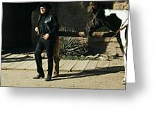 Johnny Cash Horse Old Tucson Arizona 1971 Greeting Card