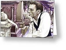 Johnny Cash-hurt Greeting Card