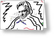 Johnny Cash Man In White Literary Homage Old Tucson Arizona 1971-2008 Greeting Card