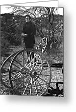 Johnny Cash  Meditating Wagon Wheel Graveyard Old Tucson Arizona 1971 Greeting Card
