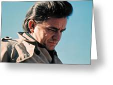 Johnny Cash  Music Homage Ballad Of Ira Hayes Old Tucson Arizona 1971 Greeting Card
