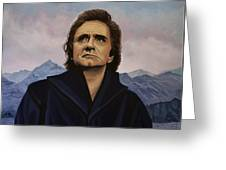 Johnny Cash Painting Greeting Card