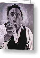 Johnny Cash Portrait Greeting Card