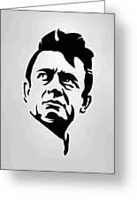 Johnny Cash Poster Art Portrait Greeting Card