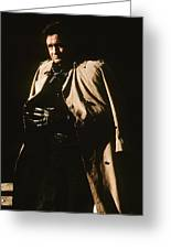 Johnny Cash Trench Coat  Sepia Variation Old Tucson Arizona 1971 Greeting Card
