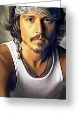 Johnny Depp Artwork Greeting Card