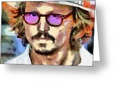 Johnny Depp Actor Greeting Card