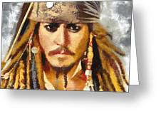 Johnny Depp Jack Sparrow Actor Greeting Card