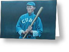 Johnny Evers Greeting Card by Mark Haley