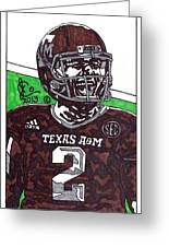 Johnny Manziel 6 Greeting Card by Jeremiah Colley