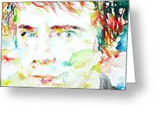 Johnny Rotten - Watercolor Portrait Greeting Card