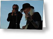 Johnny Winter And James Montgomery Playing The Blues Greeting Card