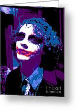 Joker 12 Greeting Card