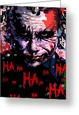 Joker Greeting Card by Jeremy Scott
