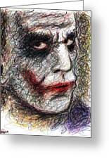 Joker - Pout Greeting Card by Rachel Scott