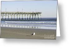 Jolly Roger Pier On Topsail Beach Nc Greeting Card