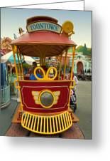 Jolly Trolley Disneyland Toon Town Greeting Card