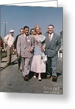 Jone Ann Pedersen Miss California June 1949 Greeting Card
