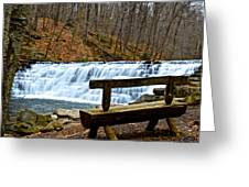 Jones Mill Run Dam Relaxing View Greeting Card