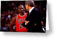 Jordan And Coach Greeting Card