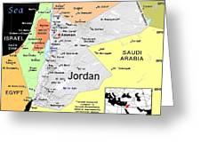 Jordan Exotic Map Greeting Card by Florene Welebny