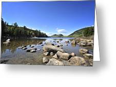 Jordan Pond Greeting Card by Terry DeLuco
