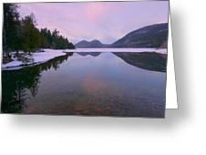 Jordan Pond Winter Reflections Greeting Card