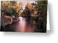Jordan River At Dusk Greeting Card by Lawrence Berke