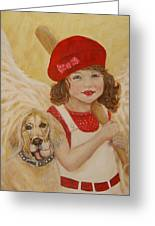 Joscelyn And Jolly Little Angel Of Playfulness Greeting Card by The Art With A Heart By Charlotte Phillips