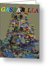 Jose Gaspar Ship Vertical Work Greeting Card