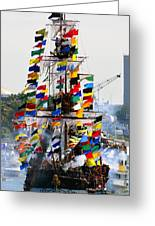 Jose Gasparilla Ship Work A Greeting Card