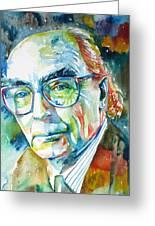 Jose Saramago Portrait Greeting Card