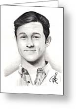 Joseph Gordon Levitt 2 Greeting Card