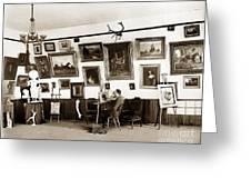 Joseph Kurtz Oliver Artist In His Studio Monterey Circa 1905 Greeting Card