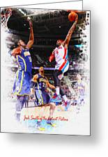 Josh Smith Of The Detroit Pistons Greeting Card